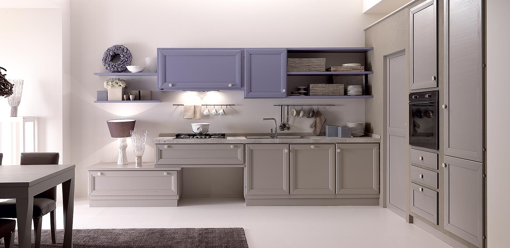 Cucine contemporanee zappalorto cortigiana grigio crema - Cucina grigio tortora ...