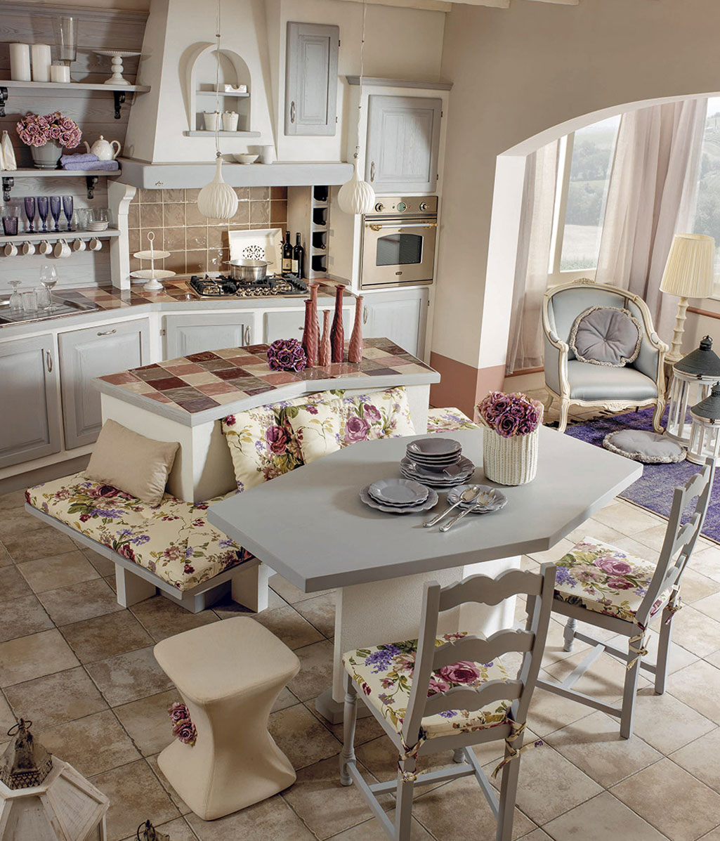 Arredo country chic zappalorto cucine toscane with for Arredamento toscana