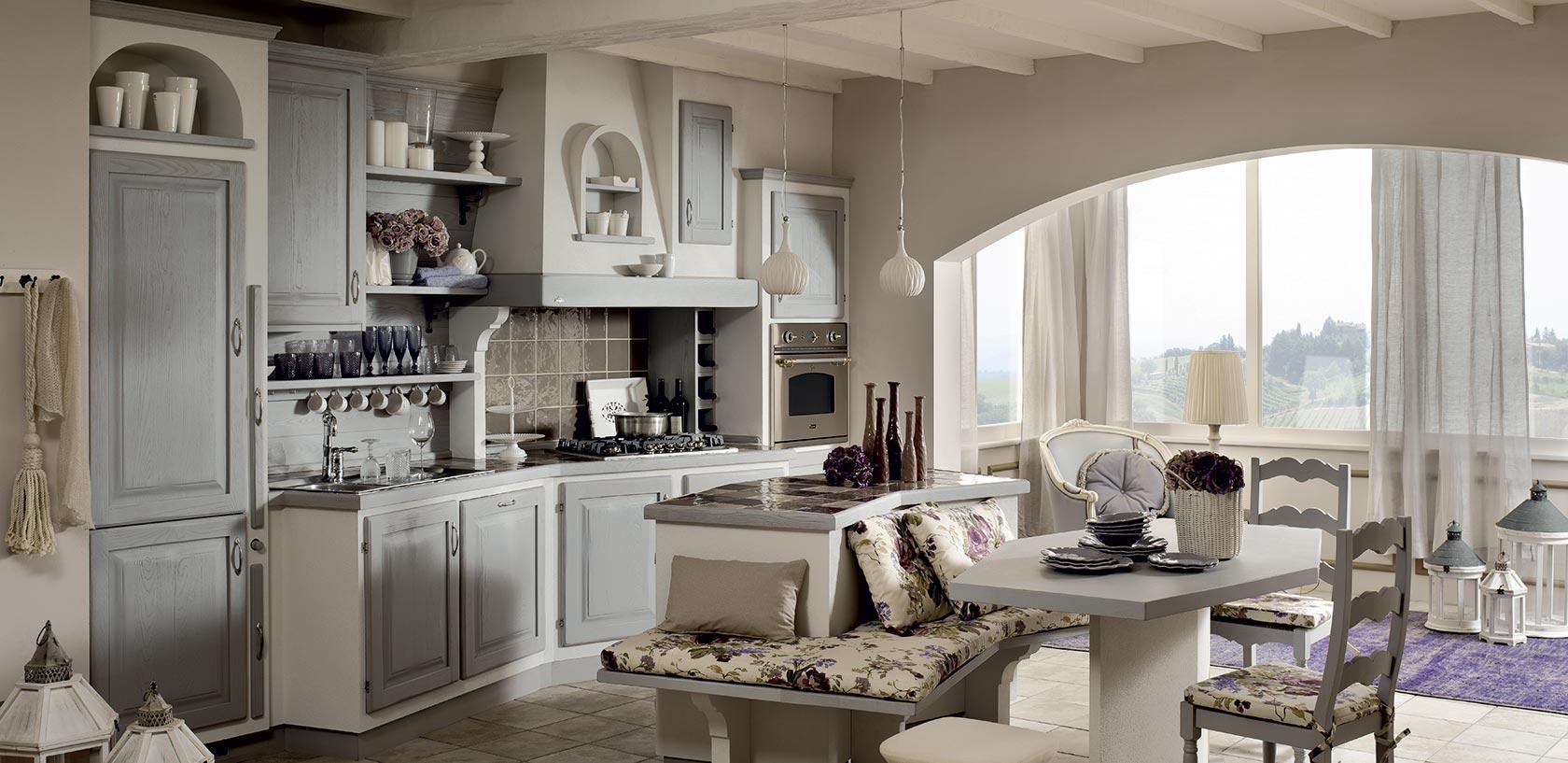 Zappalorto cucine effetto muro - Tessuti country per cucina ...