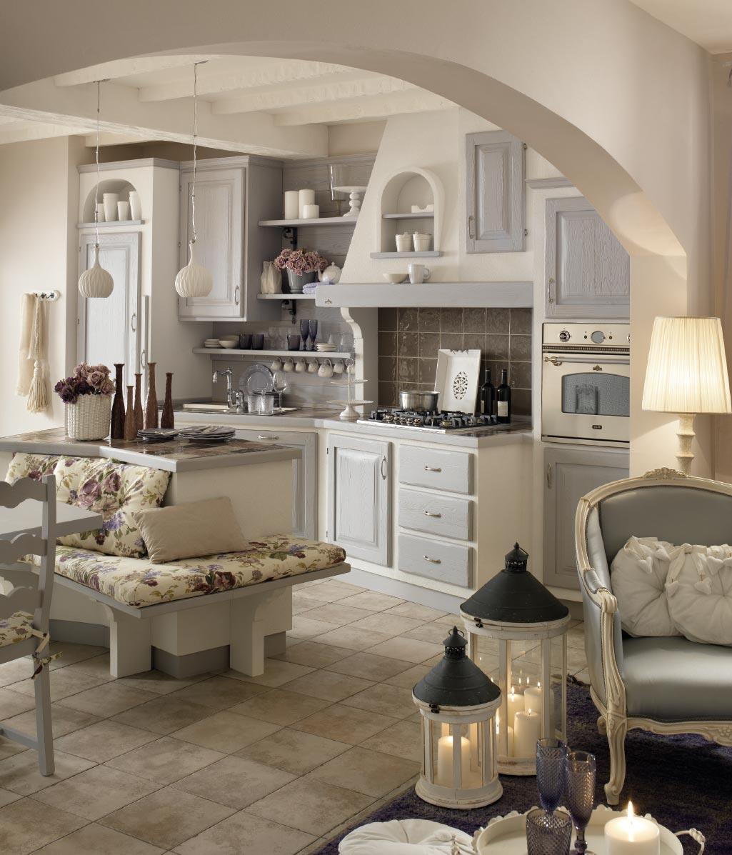 Zappalorto cucine effetto muro - Cucina country in muratura ...